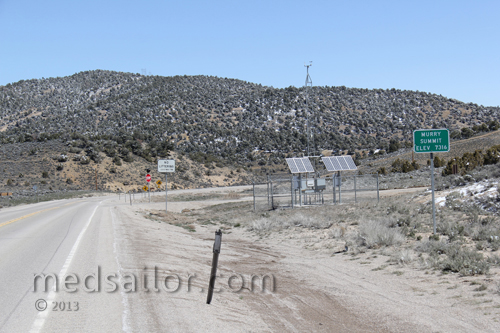 This was the 7the Summit between Tonopah and Ely NV along US Hwy 6, Nevada Basin and Range loneliest Hwy in USA