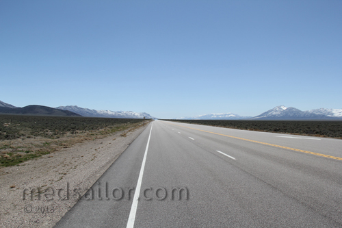 US Hwy 6, Nevada Basin and Range loneliest Hwy in USA