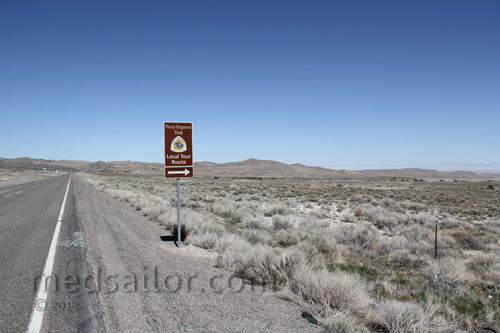 Old pony Express Route US Hwy 6, Nevada Basin and Range loneliest Hwy in USA