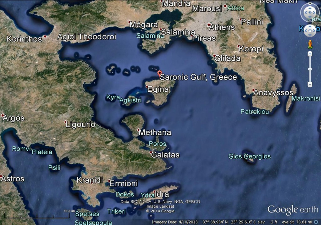 Saronic Gulf Google earth