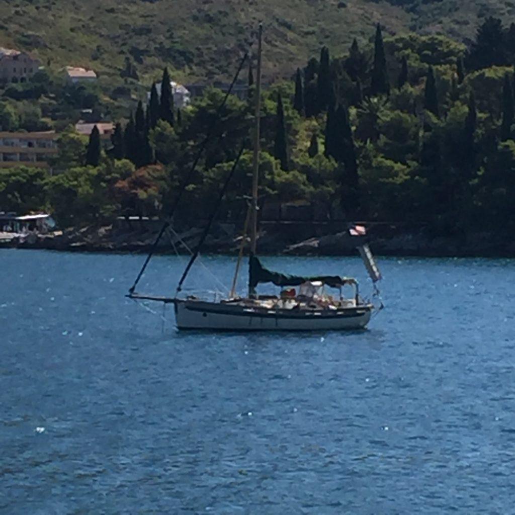 Safe at anchor in Cavtat Croatia